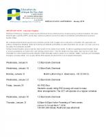 MIDDLE SCHOOL HAPPENINGS – January 2019