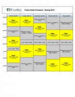_Finals Week Schedule – Spring 2019 – Finals S2 2019 (2)