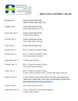 MIDDLE SCHOOL HAPPENINGS – May 2019