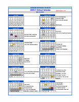 RPA HS Calendar 20-21 Rev 8-2020