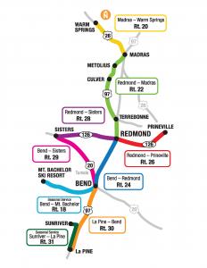 central oregon bus route map